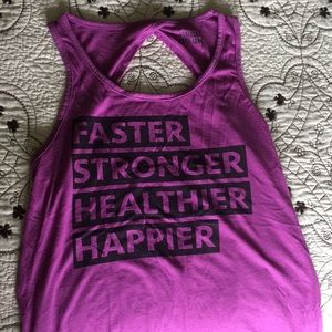 Super cute workout tank with cute back